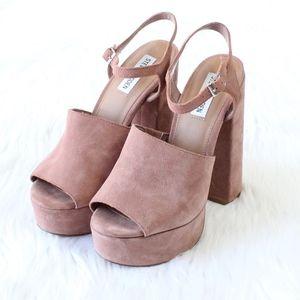 8ca65f056d5 Steve Madden Shoes - STEVE MADDEN Melina Suede Platform Heel in Muave
